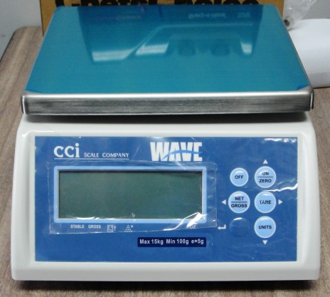 New CCi WAVE-15 30lb washdown protion scale