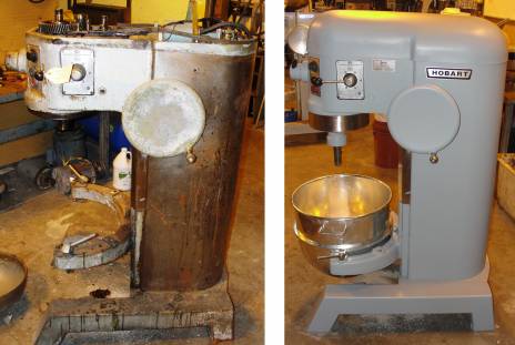 Reconditioned Hobart H600 BEFORE & AFTER