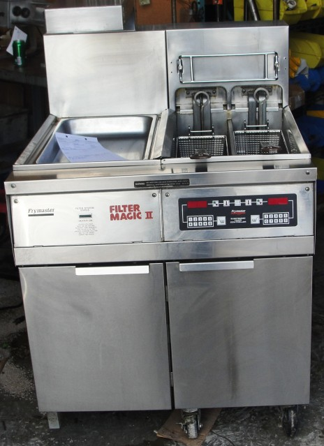 Reconditioned Frymaster FH14-2BLSC Electric Fryer W-Dump Station &; Filter System 208v-3ph