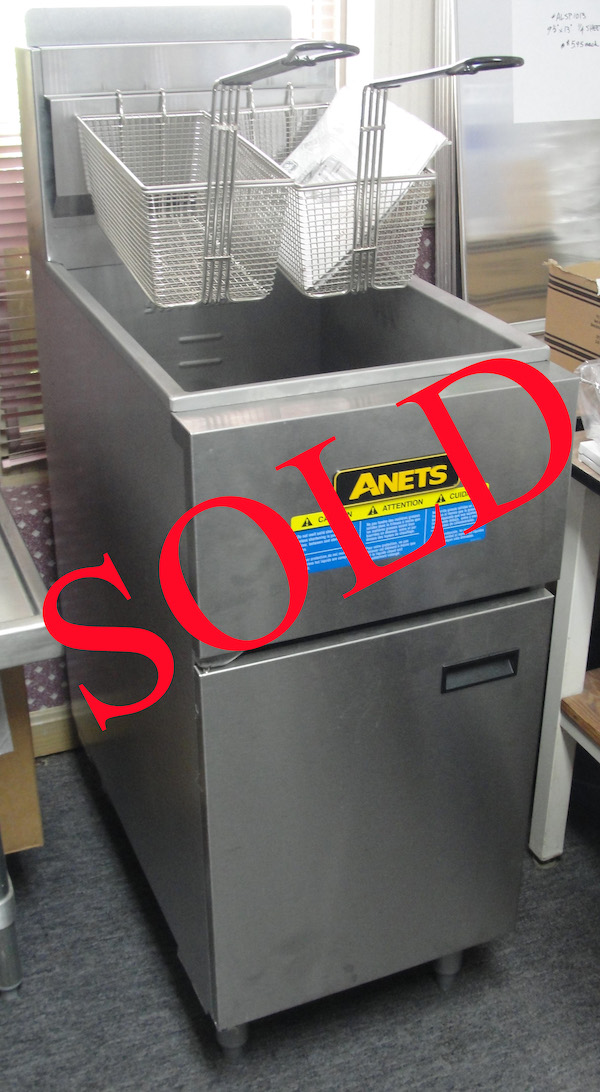 New Anets SLG50 gas fryer