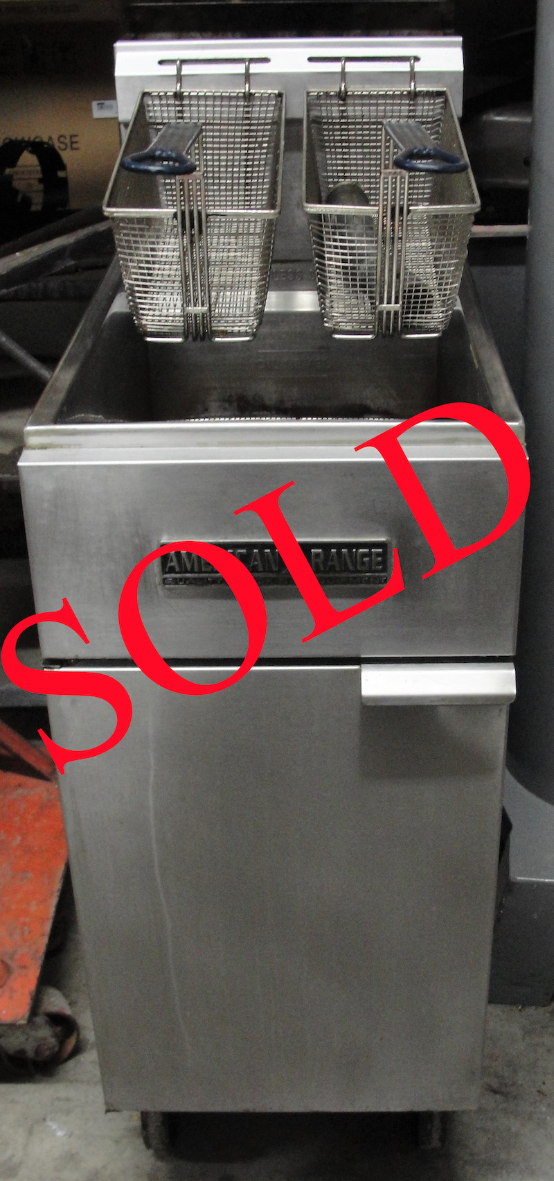 Reconditioned American Range AF35-50 gas fryer