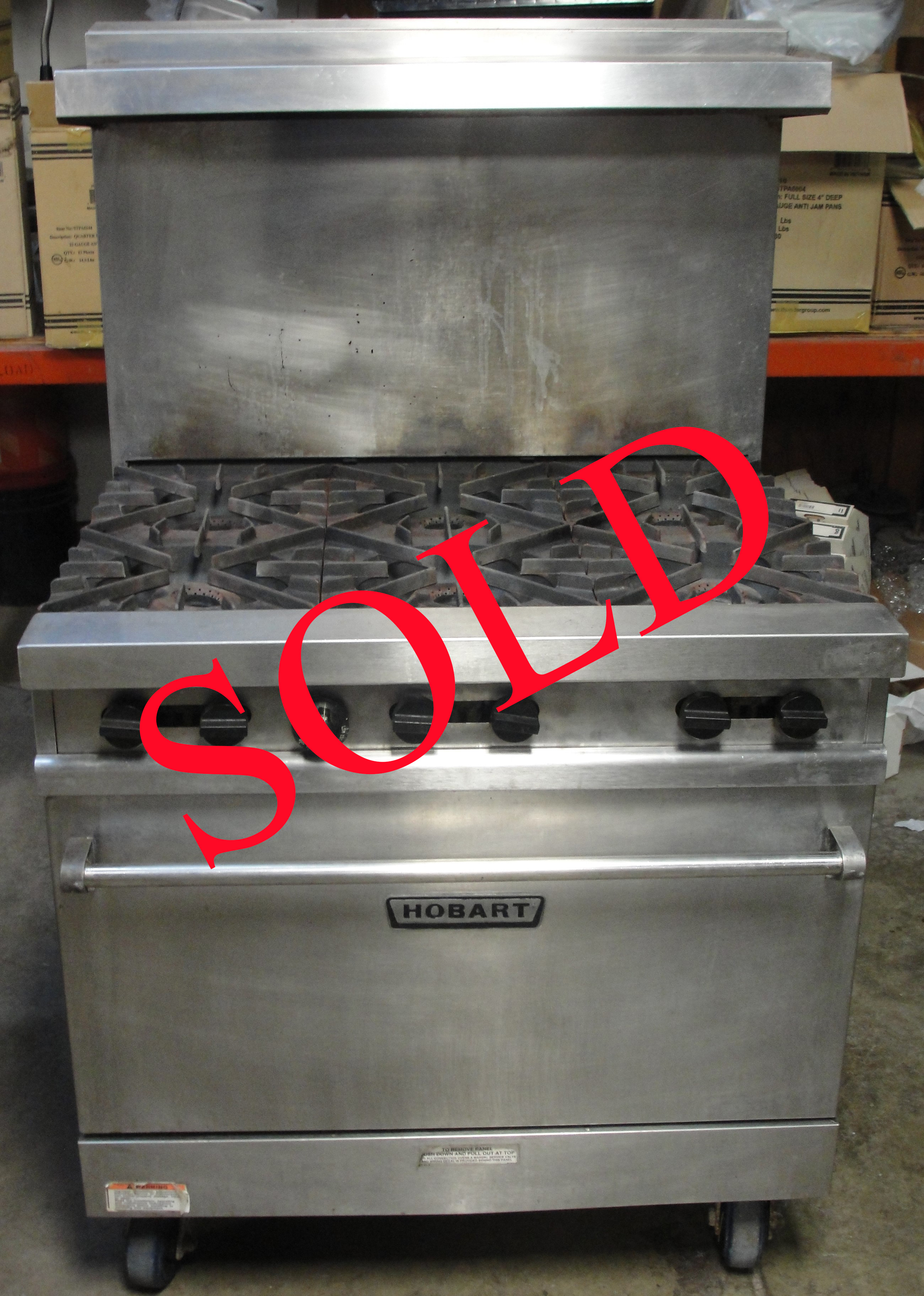 Reconditioned Hobart MGR36 gas range