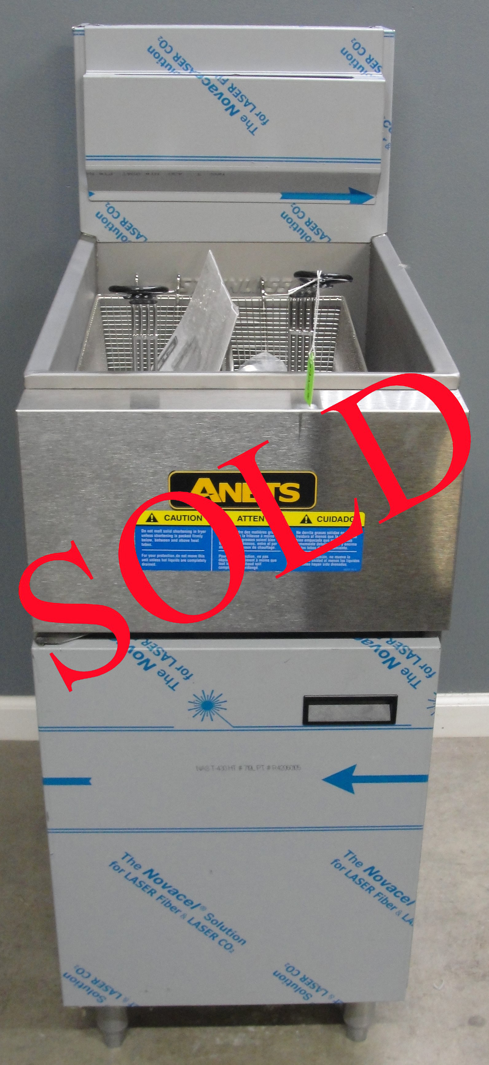 New Anets SLG50 Gas Fryer- Nat