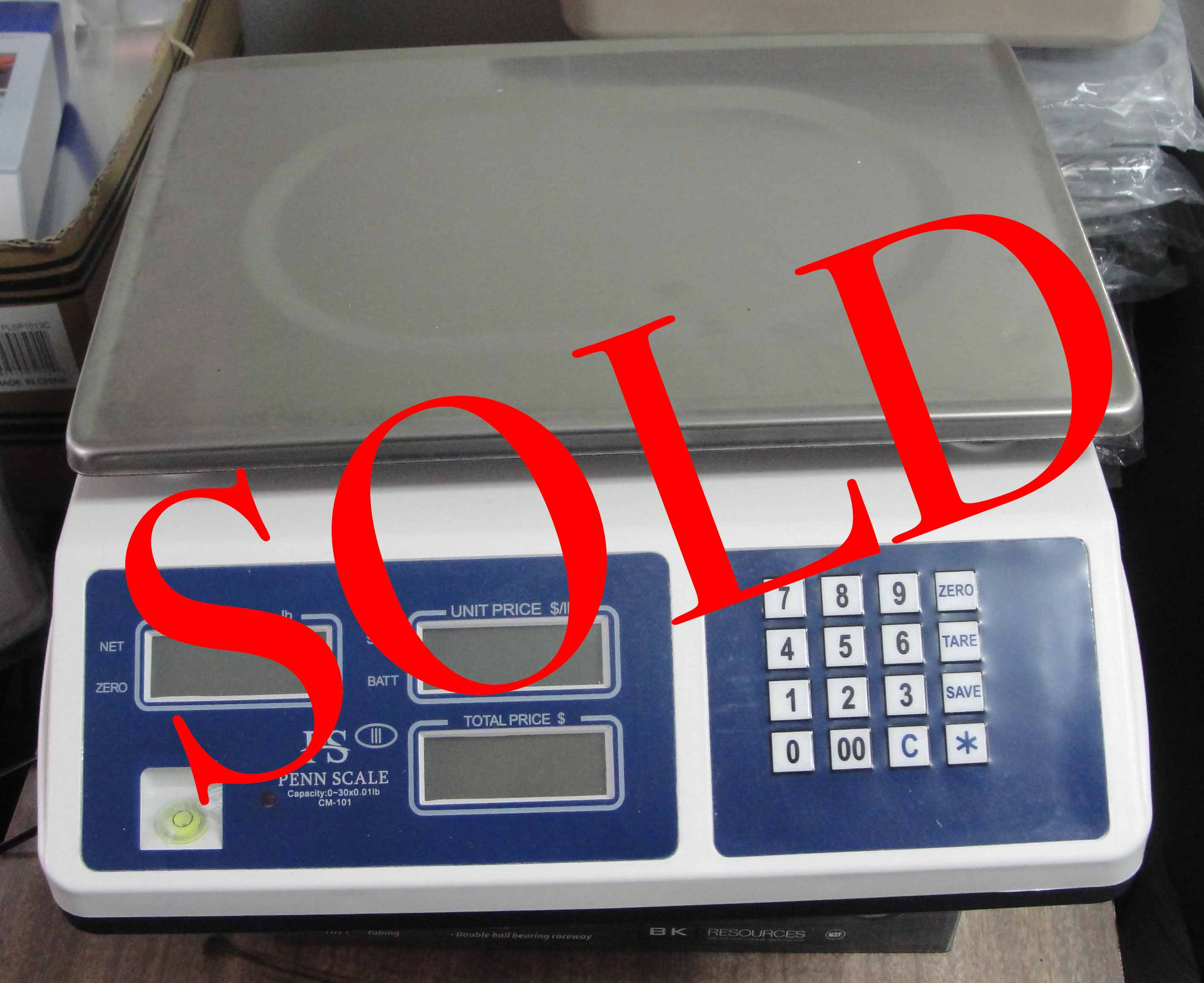 New Penn Scale CM- 101 30lb price computing scale